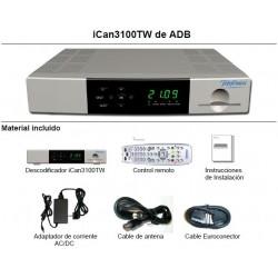 Decodificador Imagenio TDT iCan3100TW de ADB